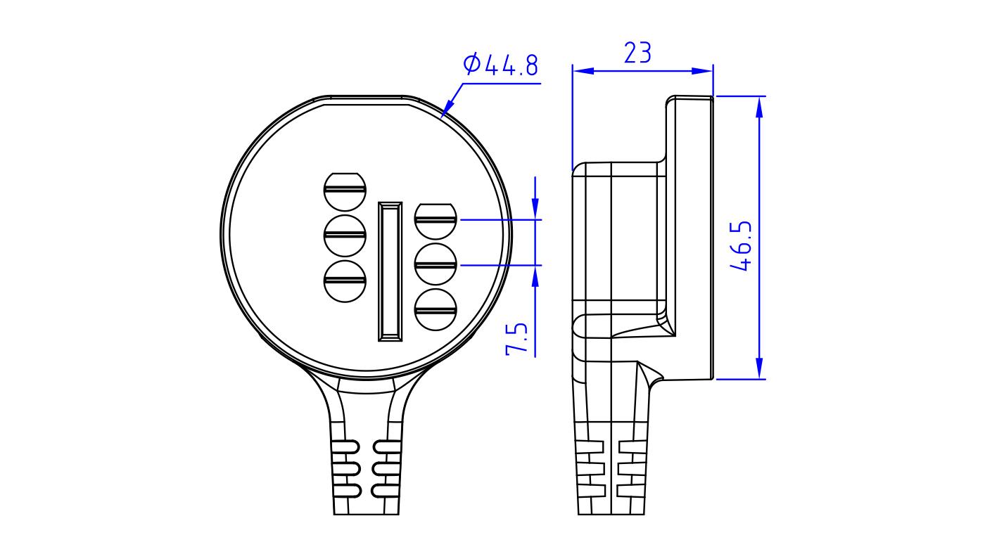 Connettori per pressostati, flussostati e microinterruttori PR25