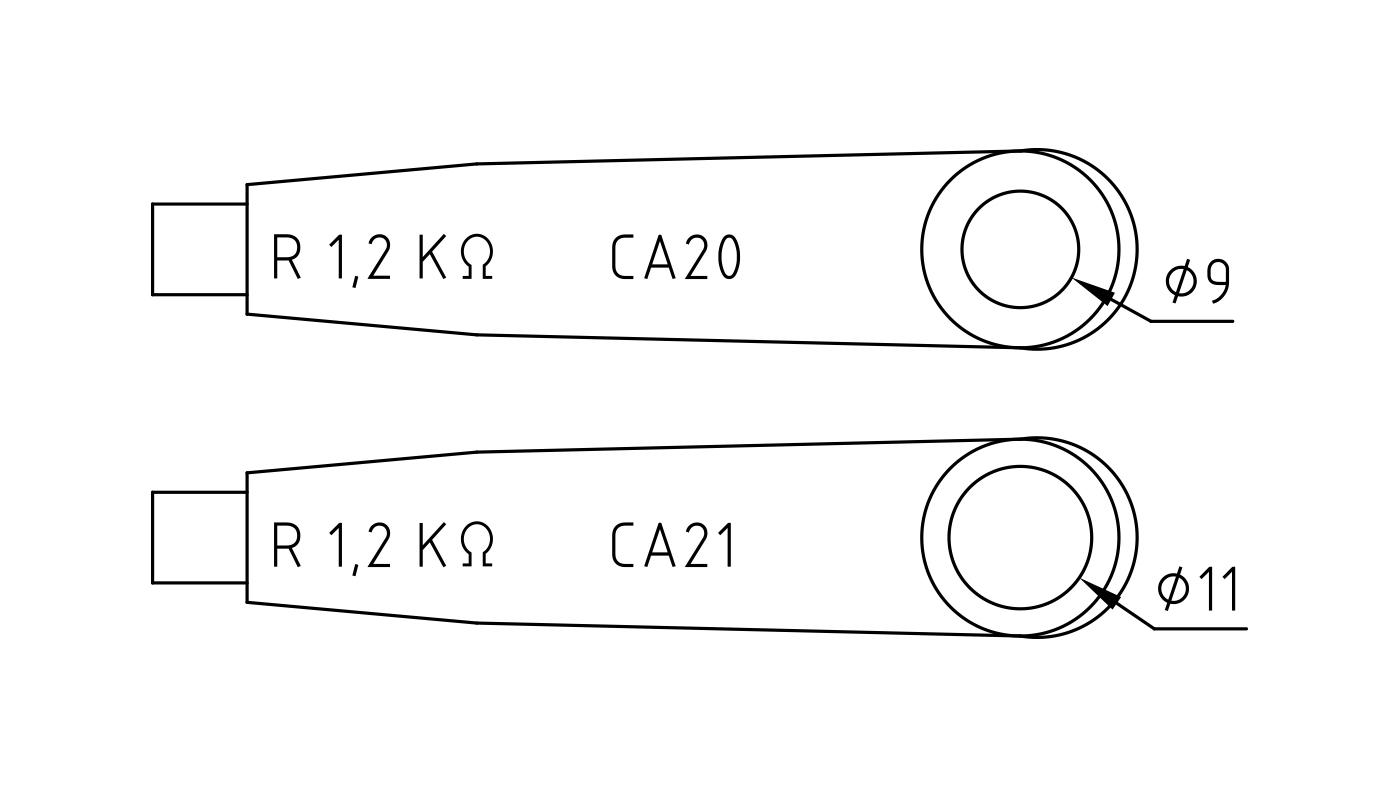 Connettori per elettrodi di accensione e rilevazione e trasformatori di accensione CA20-CA21