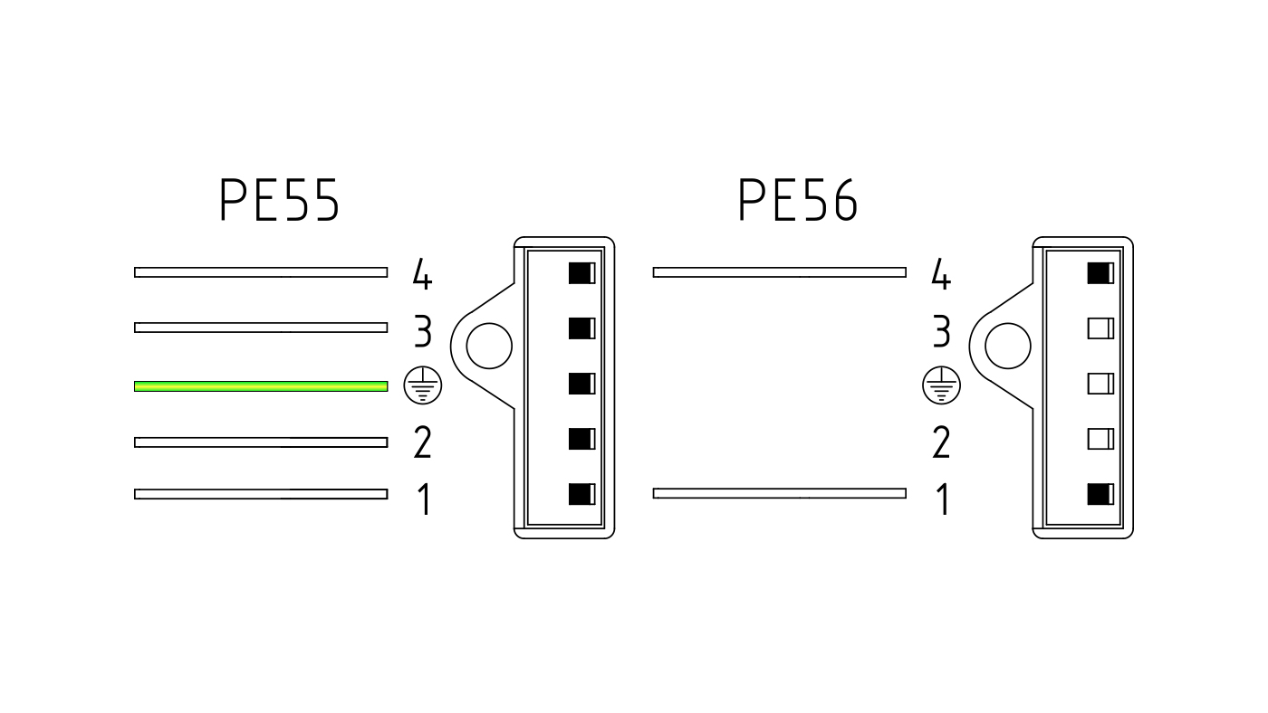 Connettori per valvole gas PE55-56