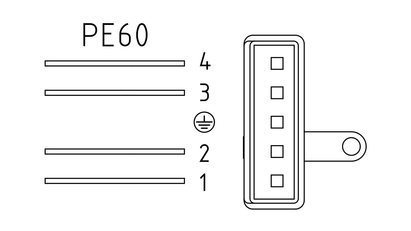 Connettori per valvole gas PE60