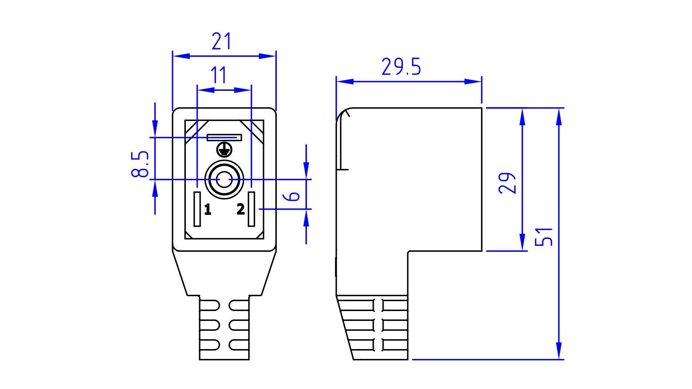 Connettori per elettrovalvole PE80-81