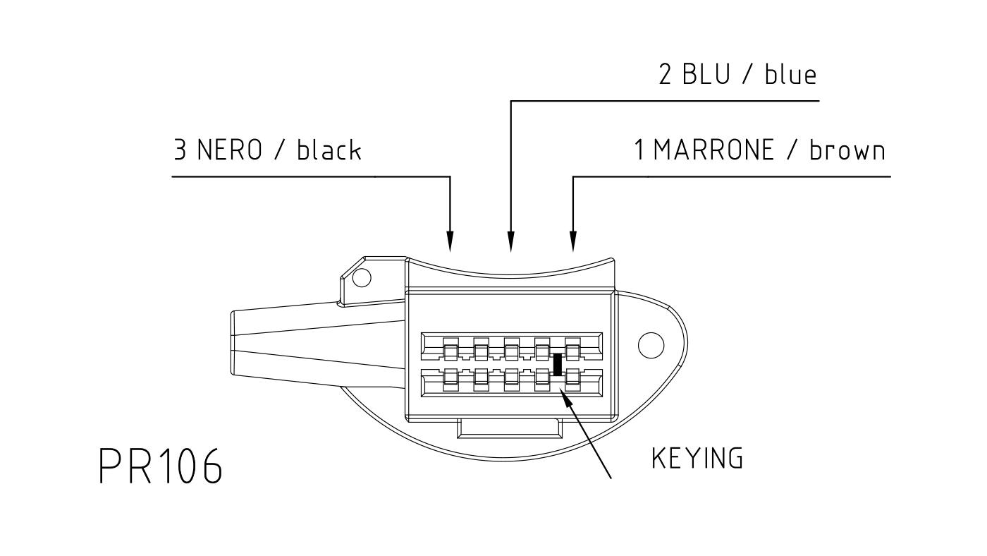 Connettori per attuatori e valvole 3 vie PR106