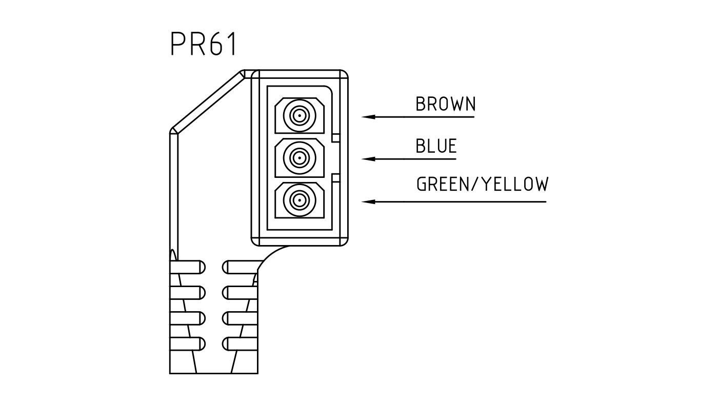 Connettori per pompe circolatori PR61