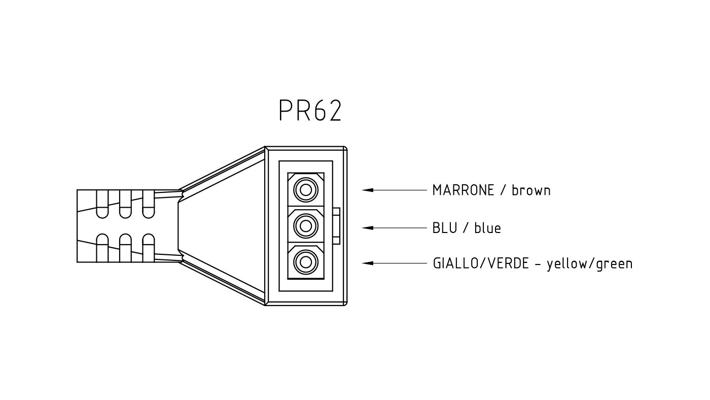 Connettori per pompe circolatori PR62