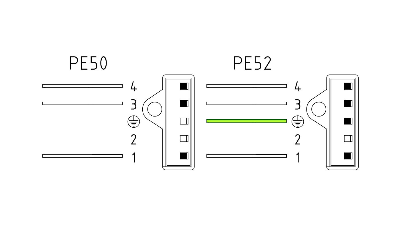 Connettori per valvole gas PE50-52
