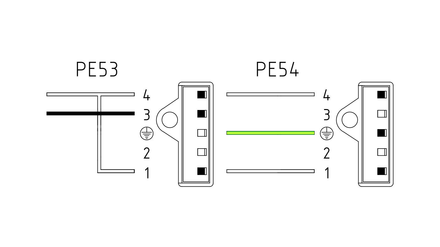 Connettori per valvole gas PE53-54