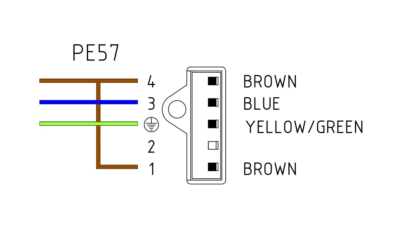 Connettori per valvole gas PE57