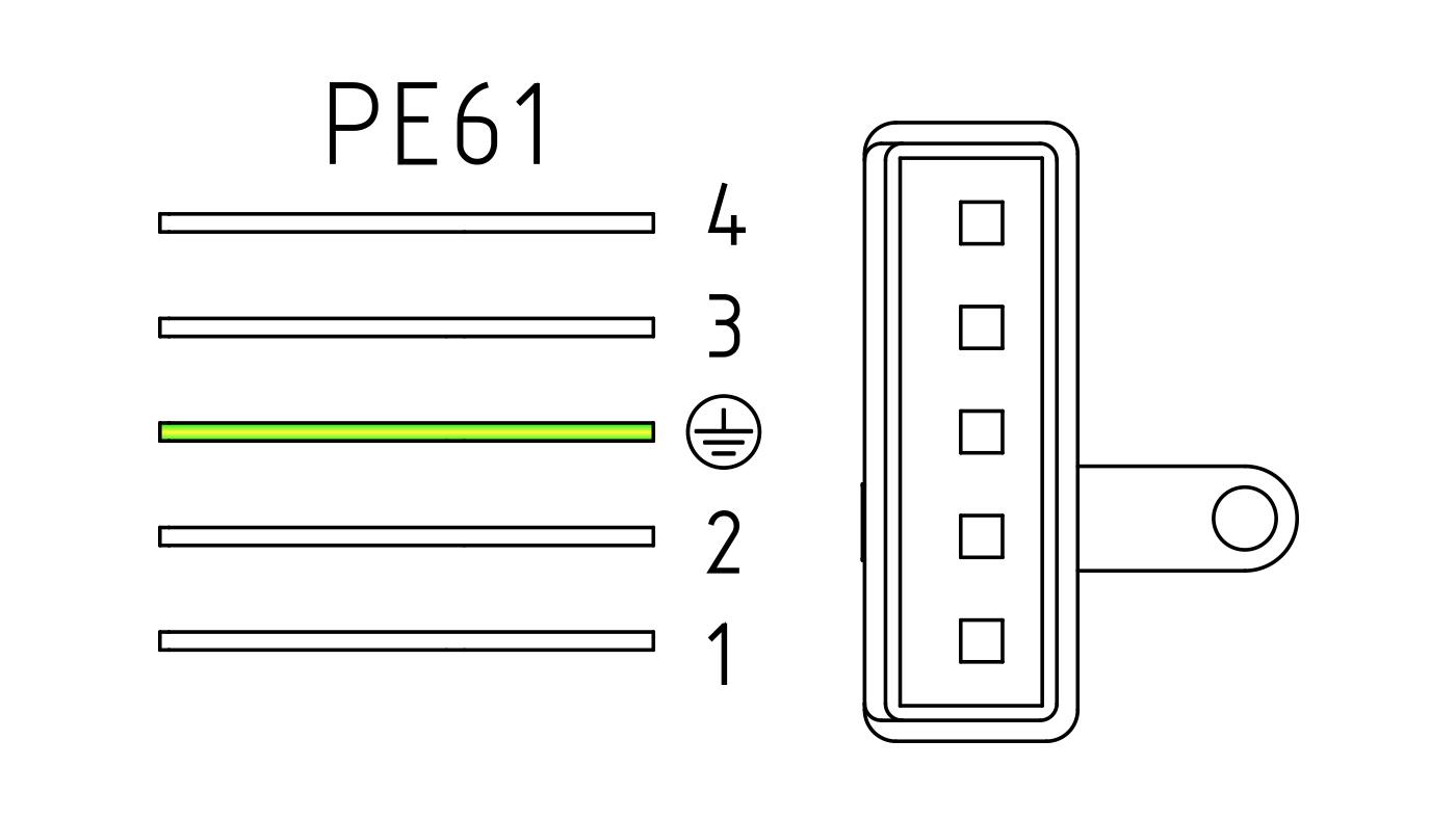Connettori per valvole gas PE61