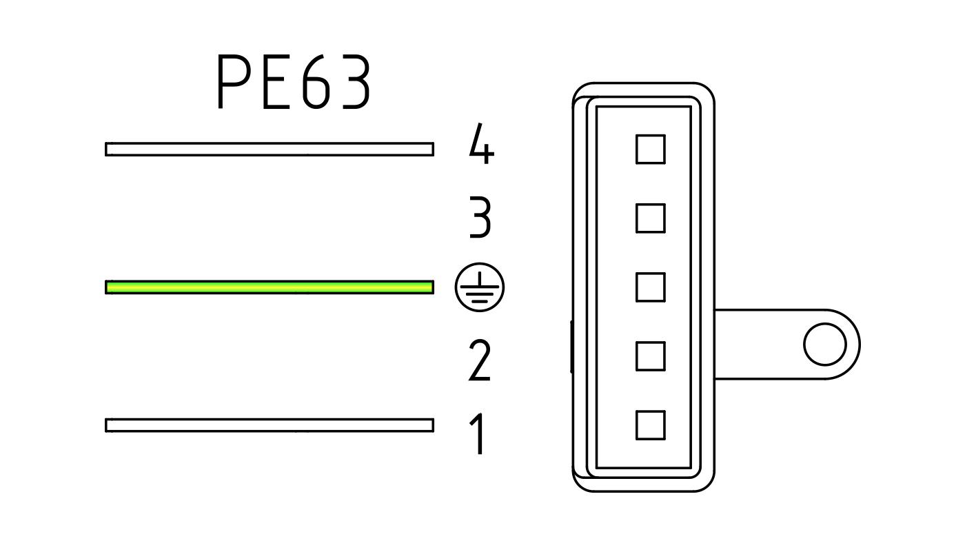 Connettori per valvole gas PE63