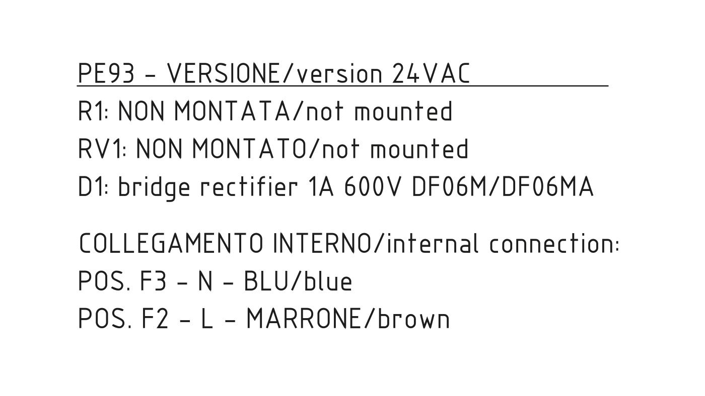 Connettori per valvole gas PE93