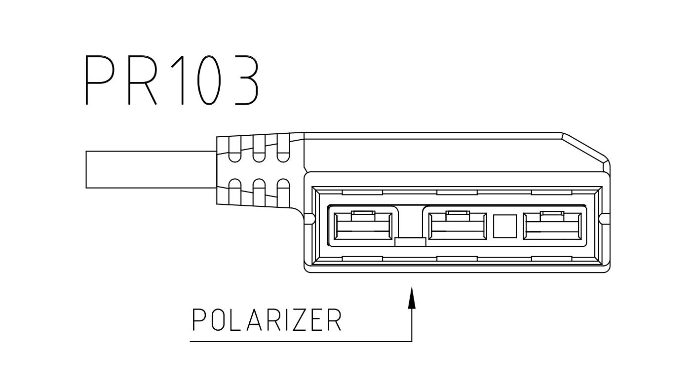 Connettori per attuatori e valvole 3 vie PR103