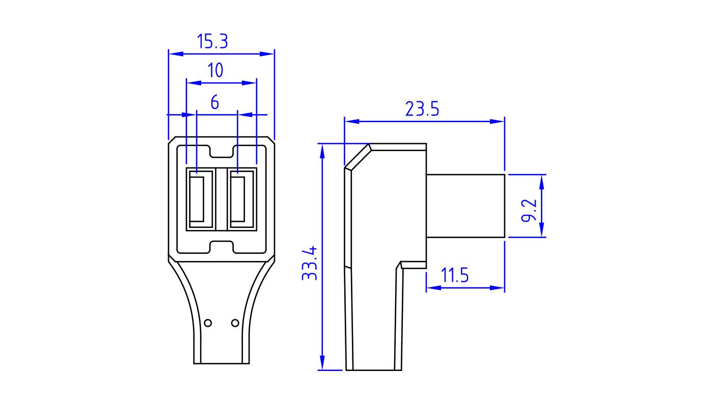Connettori per elettrovalvole PR66